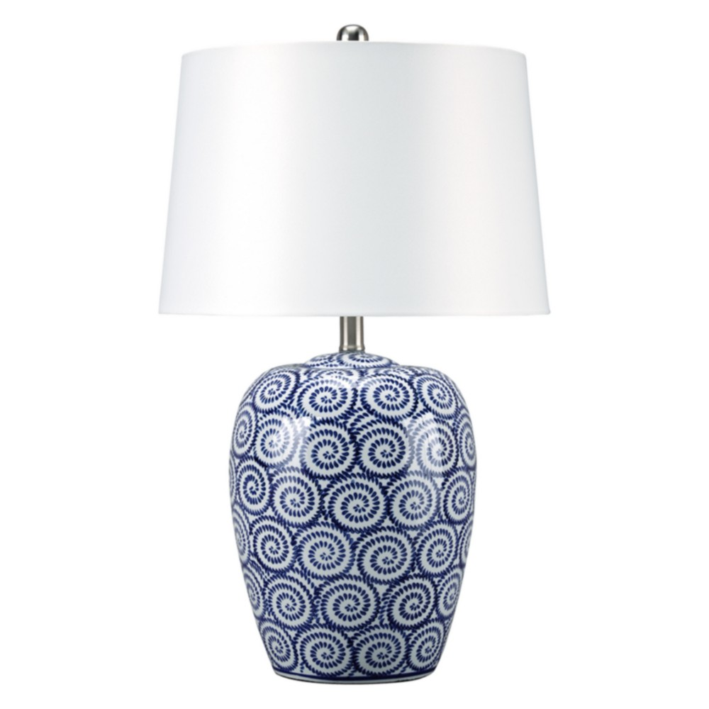 Malini Ceramic Table Lamp Angel Blue (Lamp Only) - Signature Design by Ashley