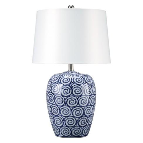 Malini Ceramic Table Lamp Angel Blue Lamp Only Signature Design