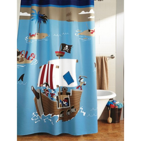 Circo™ Pirate Shower Curtain - Blue - image 1 of 1