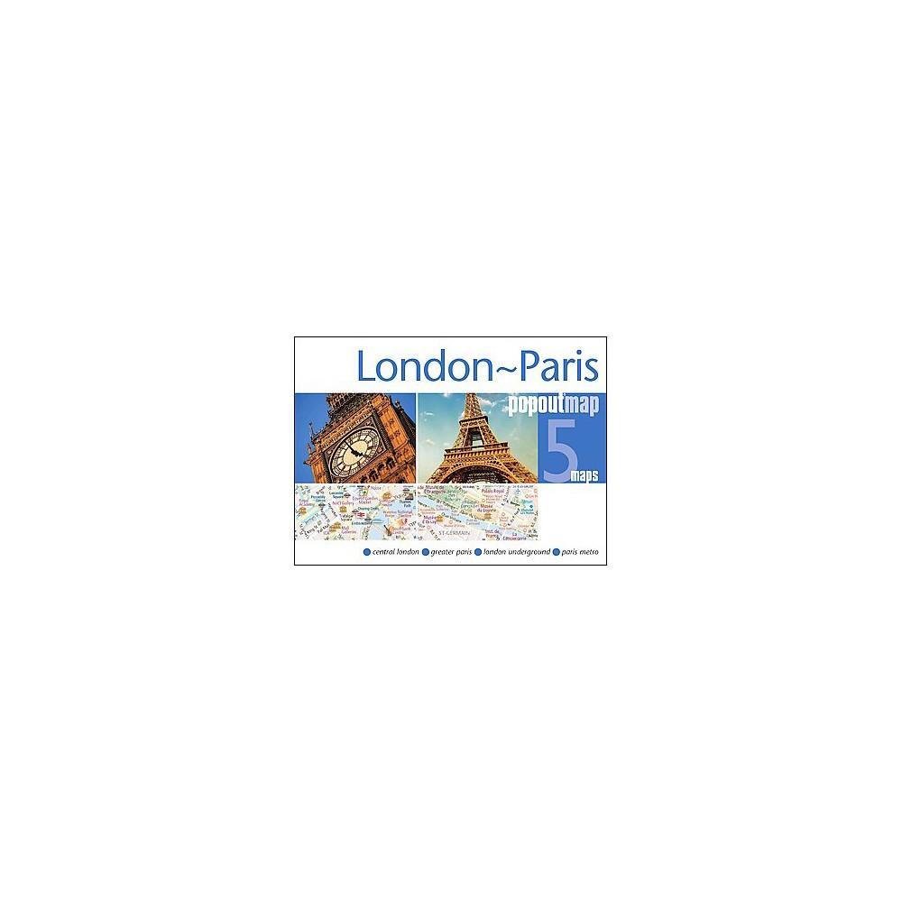 Popout Map London - Paris : 5 Maps (Paperback)