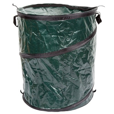 Wakeman Pop Up 33 Gallon Camping Garbage Can - Green