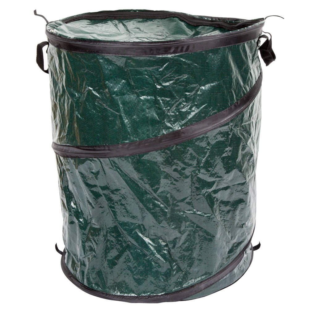 Image of Wakeman Pop Up 33 Gallon Camping Garbage Can - Green