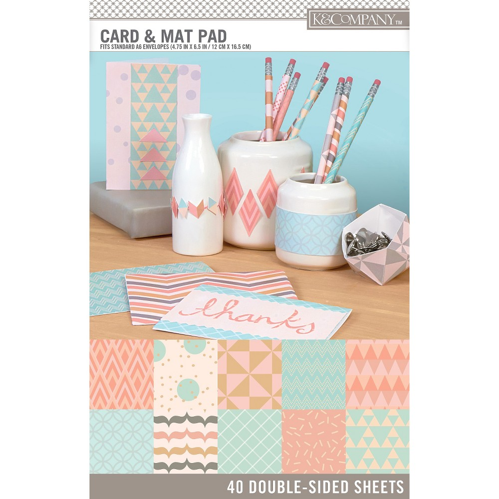 K&Company Light Hue Paper Pads Small, Multi-Colored
