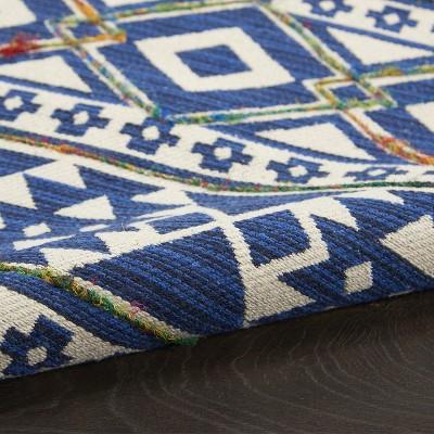 """2'3""""x3'9"""" Rectangle Cotton Floor Mat Blue - Nourison : Target"""