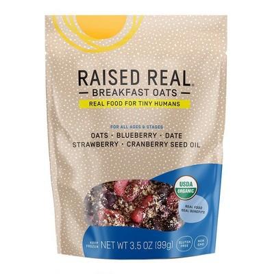 Raised Real Organic Gluten Free Oats + Berries Frozen Oatmeal - 3.5oz