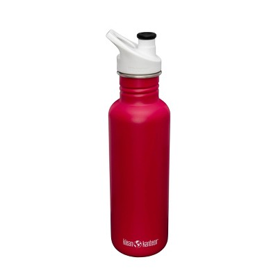 Klean Kanteen 27oz Classic Jazzy Stainless Steel Water Bottle with Sports Cap - Pink/White