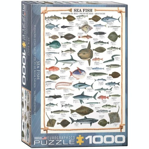 Eurographics Sea Fish 1000 Piece Jigsaw Puzzle - image 1 of 3