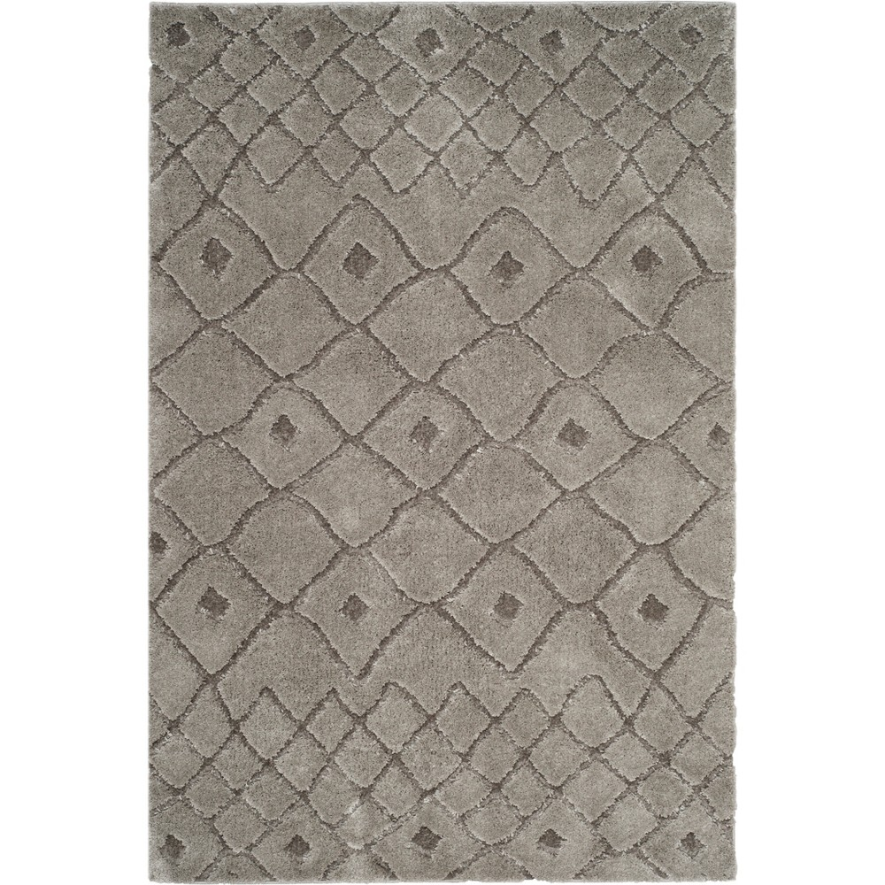 3X5 Geometric Design Loomed Accent Rug Gray - Safavieh Buy