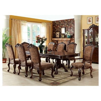Sun U0026 Pine 9pc Elegant Claw Feet Dining Table Set In Antique Cherry : Target
