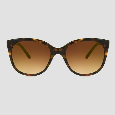 Women's Tortoise Shell Print Square Sunglasses - A New Day™ Brown