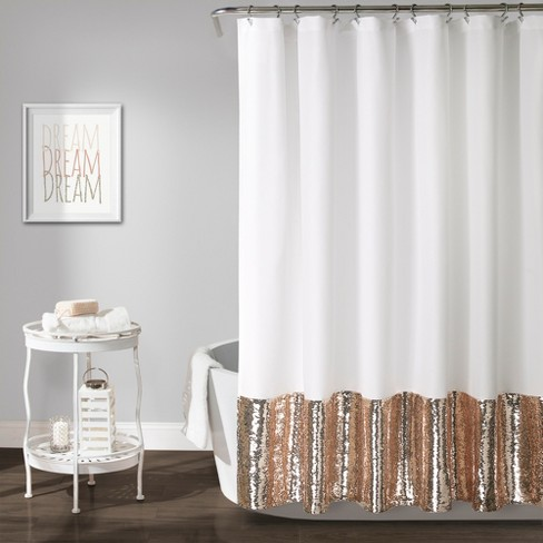 Mermaid Sequins Spa Shower Curtain