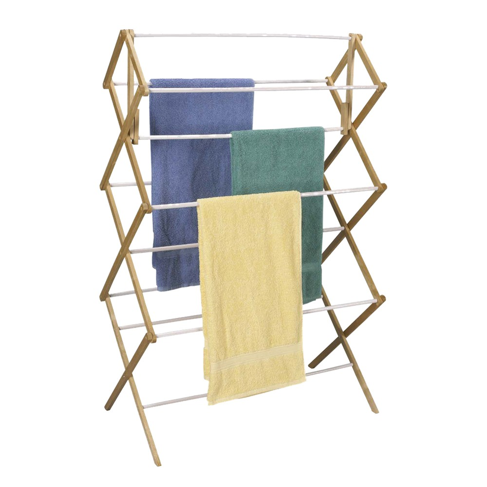 Image of Household Essentials Mega Wood Drying Rack