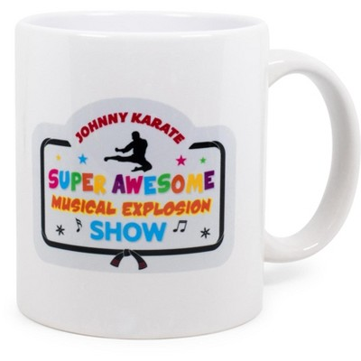 Surreal Entertainment Parks and Recreation Johnny Karate Ceramic Mug | Holds 11 Ounces