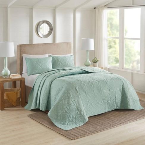 Glen King California 3pc, Seafoam Blue Bedding