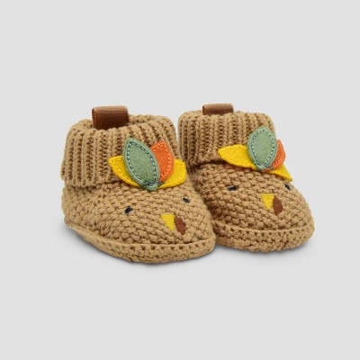 Baby Thanksgiving Knit Turkey Slippers - Just One You® made by carter's Brown