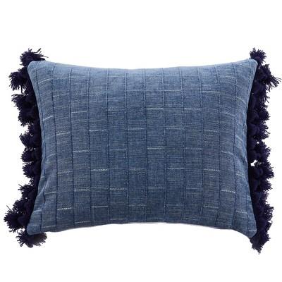 Bennett Chambray Tassel Decorative Pillow - Villa Lugano by Levtex Home