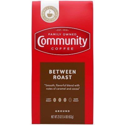 Community Coffee Between Roast Medium Dark Roast Ground Coffee - 23oz