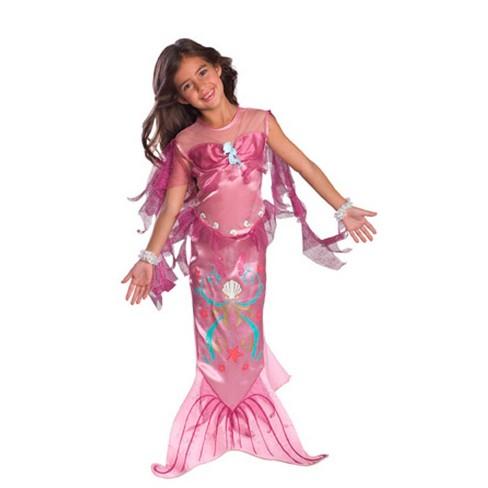 Girls Pink Mermaid Halloween Costume