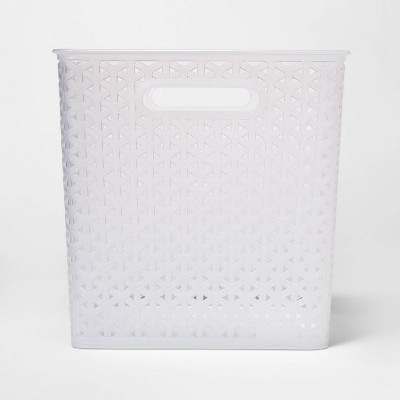 "11"" Y Weave Bin Translucent Clear - Room Essentials™"