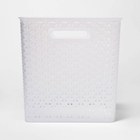 "Y-Weave Bin Translucent Clear 11"" - Room Essentials™ - image 1 of 3"