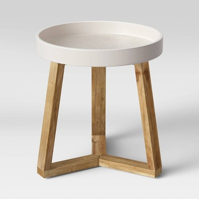 Celadine Round Cement Top Accent Table Cream - Opalhouse™