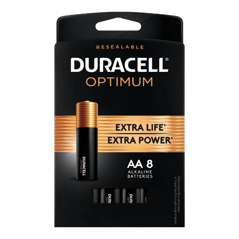 Duracell Optimum AA Alkaline Batteries - 8ct - image 1 of 4