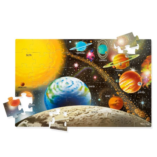 Melissa And Doug Solar System Floor Puzzle 48pc image number null