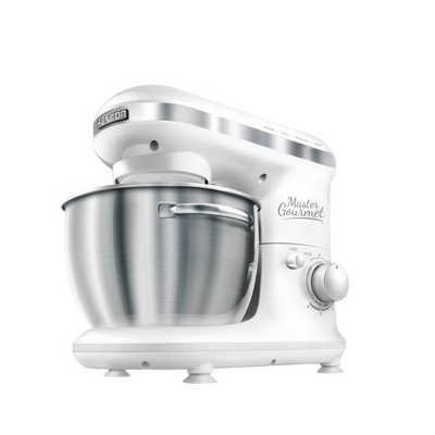 Sencor 4.2qt Stand Mixer with Pouring Shield - White