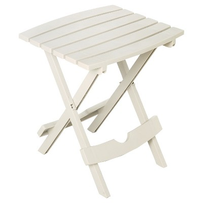 Adams Quick Fold Side Table - White