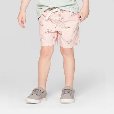 Toddler Boys' Animal Print Pull-On Shorts - Cat & Jack™ Pink 12M