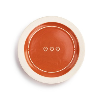 DEMDACO Heart Celebration Plate Red
