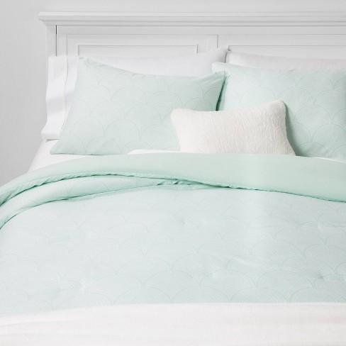 Scallop Print Bed In A Bag Green Room Essentials
