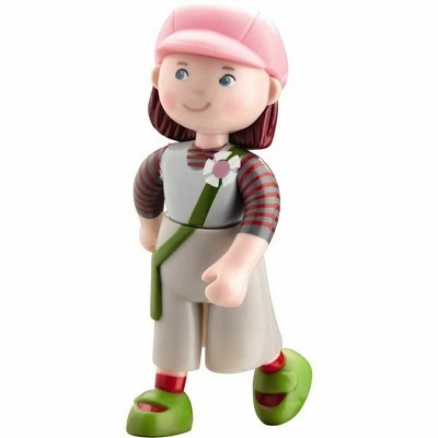 """HABA Little Friends Elise - 4"""" Dollhouse Toy Figure with Pink Hat"""