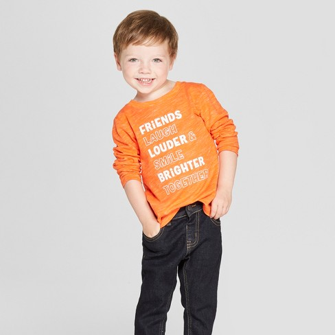56cbb3c3784ce Toddler Boys  Friends Long Sleeve T-Shirt - Cat   Jack™ Orange   Target