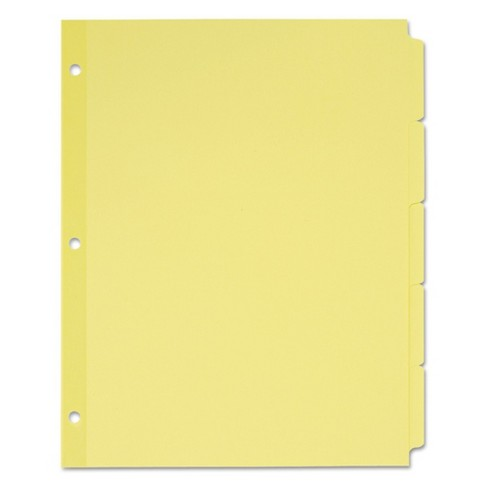 Avery® 11 x 8-1/2 Write-On Plain Tab Dividers, 5-Tab - Assorted Colors (36 Sets per Box) - image 1 of 1