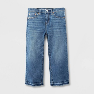 Levi's® Girls' Cropped Wide Leg Mid-Rise Jeans - Lowdown Medium Wash