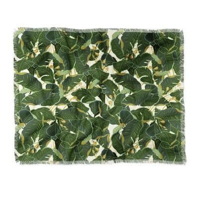 "60""X50"" Iveta Abolina Jungle Polka Throw Blanket Green - Deny Designs"