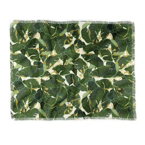 "60""X50"" Iveta Abolina Jungle Polka Throw Blanket Green - Deny Designs - image 1 of 2"
