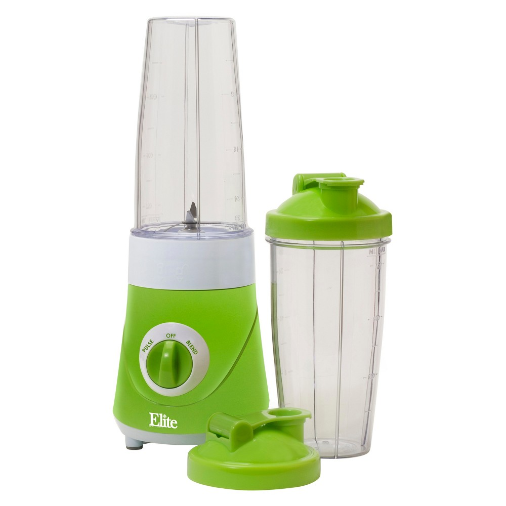 Elite Cuisine Personal Drink Mixer - Green Epb-2572G Enjoy fresh and delicious frozen drinks, smoothies, protein shakes, milk shakes and more in just minutes with the Elite Cuisine, Personal Drink Blender. A handy travel lid lets you blend and drink in the same cup, eliminating the need for extra dishes. Perfect for your busy, on-the-go healthy lifestyle! Color: Green.