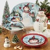 70oz Porcelain Watercolor Snowman Cookie Jar White - Certified International - image 2 of 2