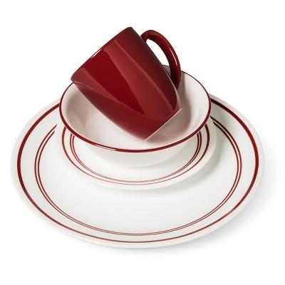 Corelle® Livingware™ 16pc Dinnerware Set Classic Café Red