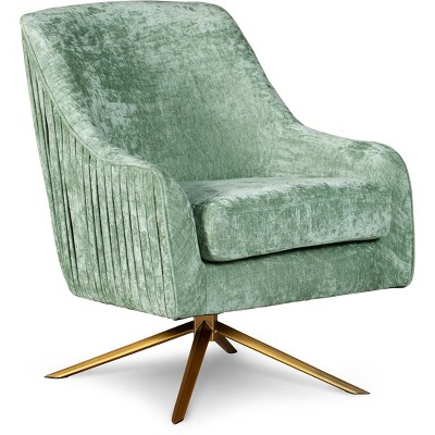 Jolie Swivel Accent Chair with Gold Base - Adore Décor