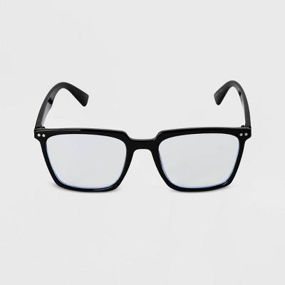 Men's Square Blue Light Filtering Glasses - Goodfellow & Co™ Black