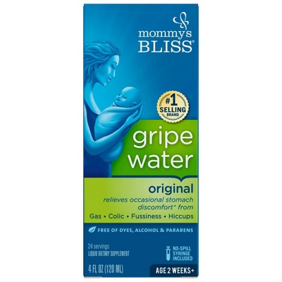 Mommy's Bliss Gripe Water for Babies with Gas, Colic or Stomach Discomfort - 4oz