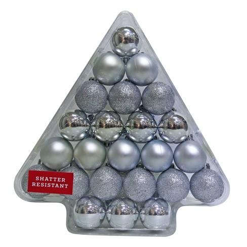 24ct 40mm Silver Christmas Ornament Set - Wondershop™ - image 1 of 1