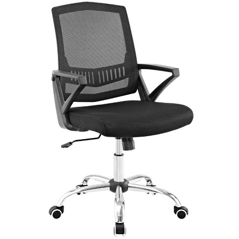 Proceed Mid Back Upholstered Fabric Office Chair Black - Modway - image 1 of 4
