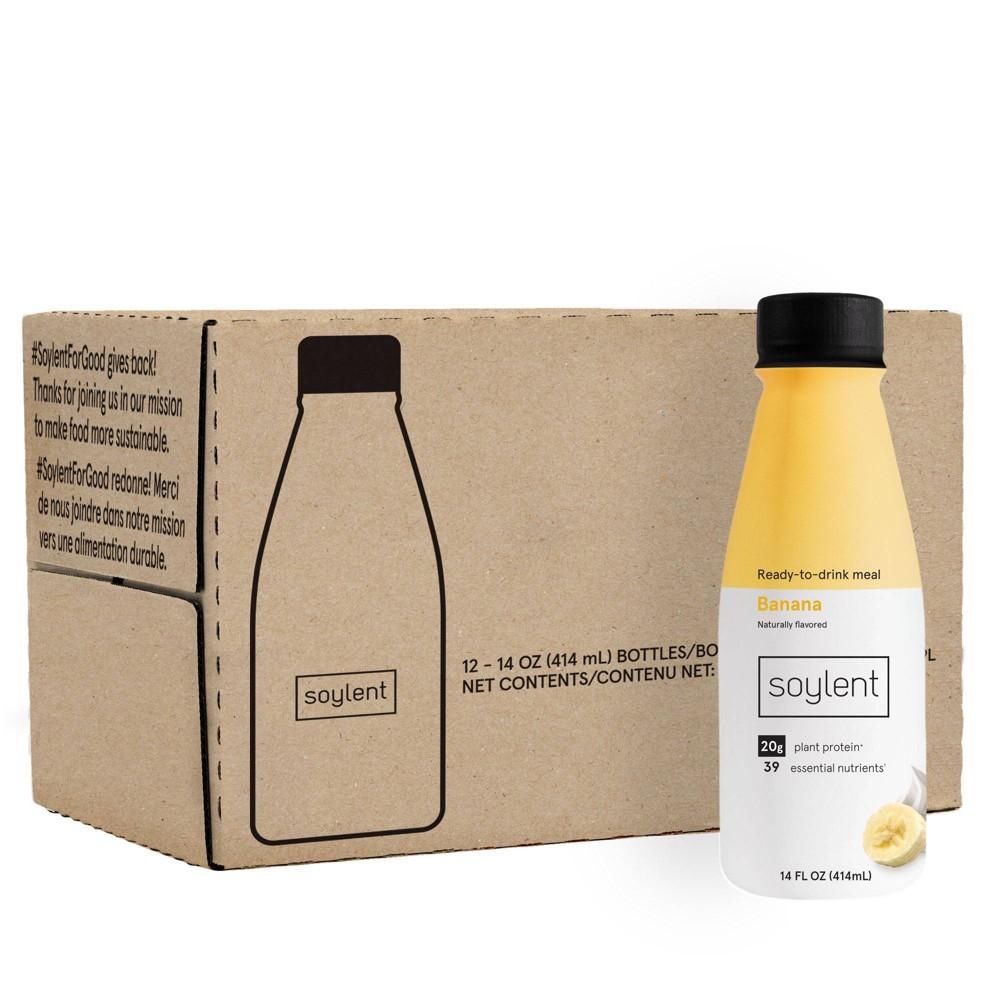 Soylent Nutritional Shake Banana 12pk 14 Fl Oz