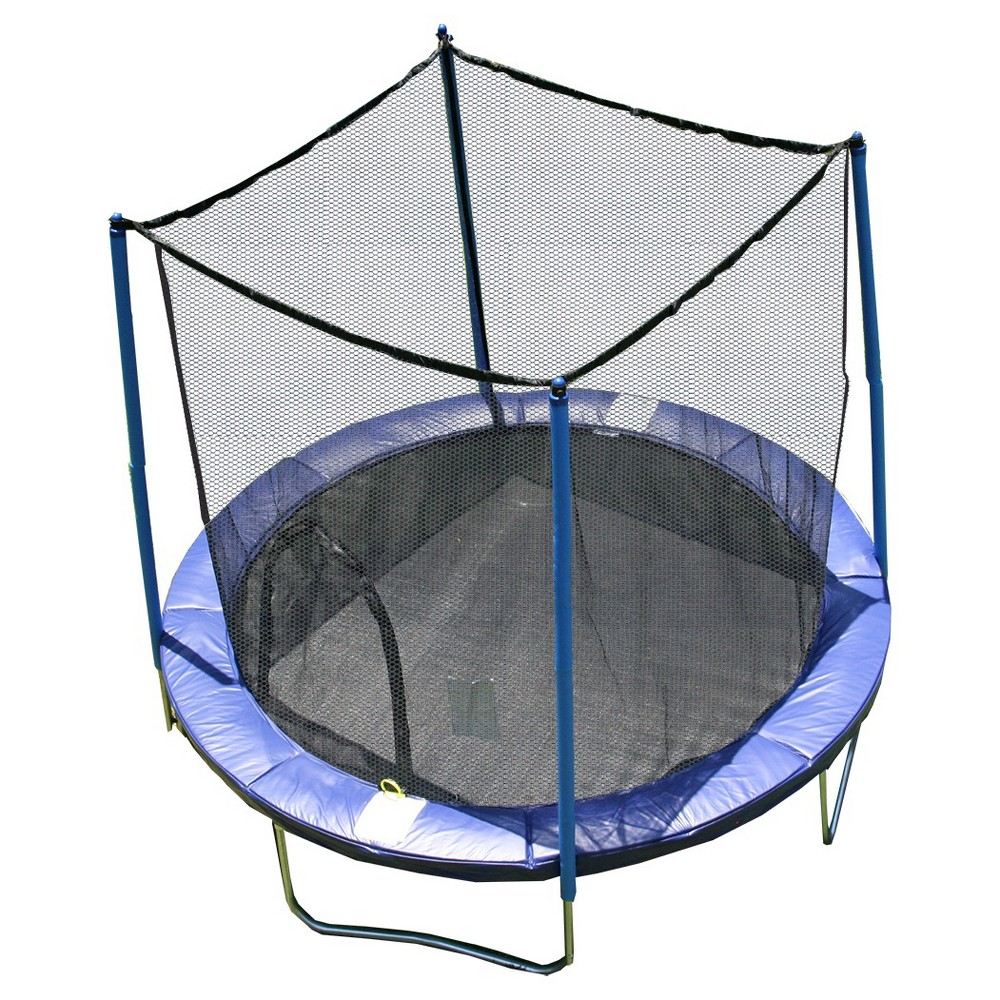 Image of 8' Airzone Trampoline and Enclosure, Blue