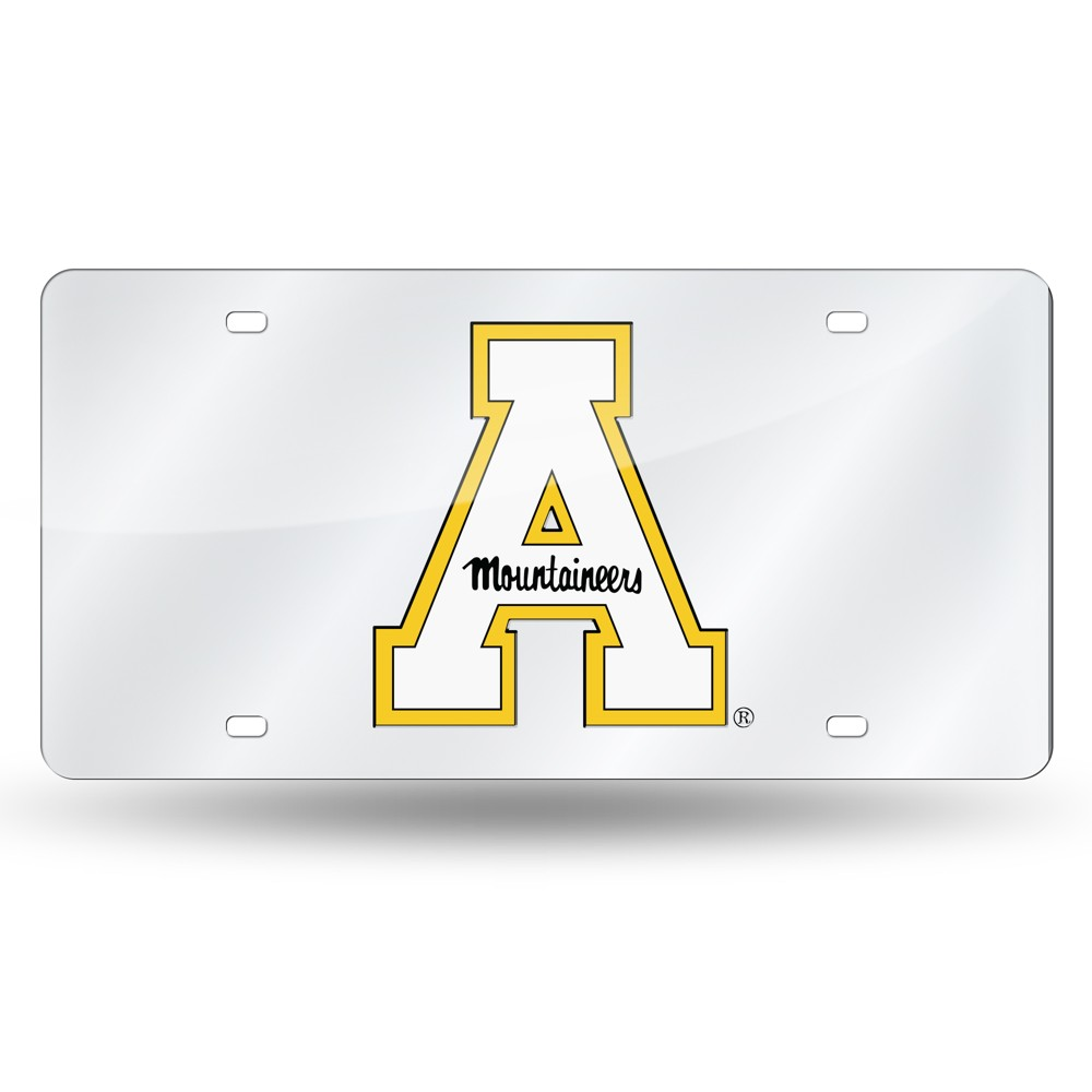 Appalachian State Mountaineers Rico Industries Silver Laser Cut Auto Tag