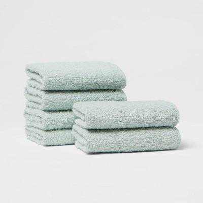 6pk Washcloth Set Mint - Room Essentials™